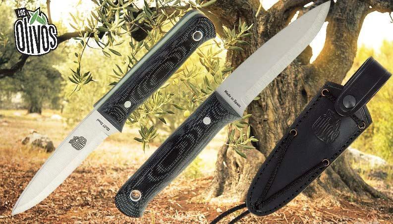 LOS OLIVOS BLACK FRF HANDLE SHEATH KNIFE