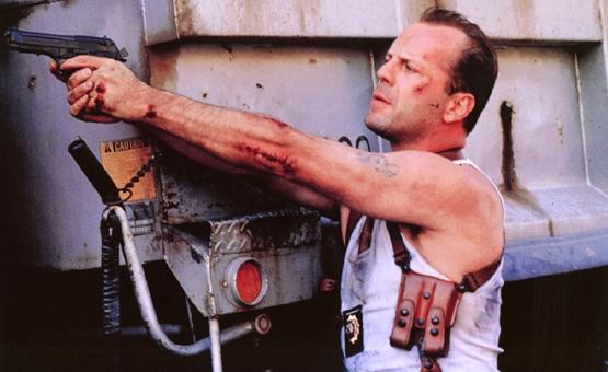 "6. ""Yippee-ki-yay Motherf*****"" John McClane using the Beretta 92 FS"