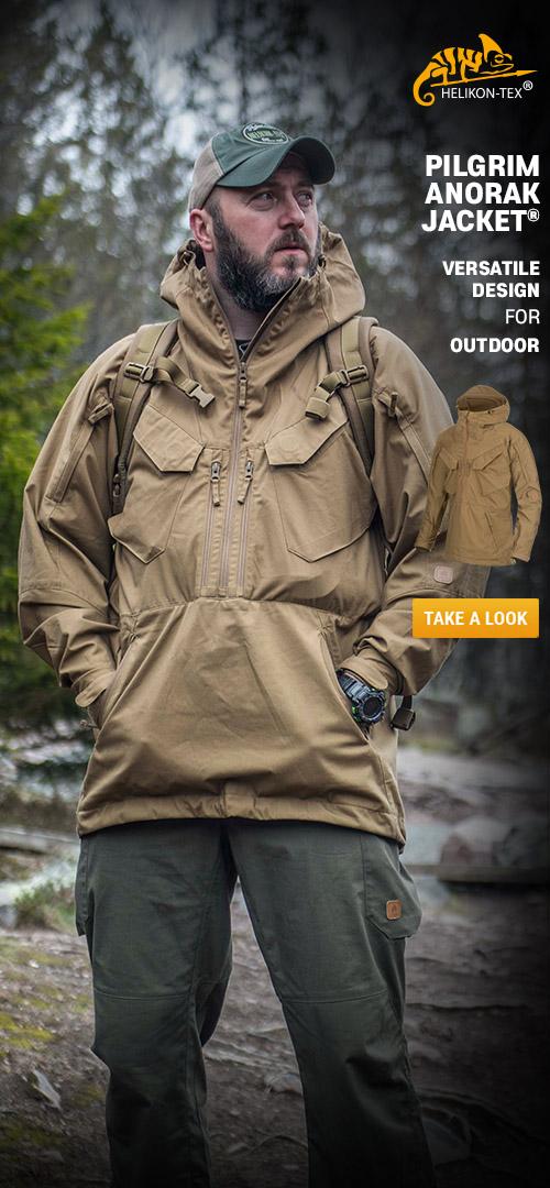 Helikon-Tex Pilgrim Anorak Jacket - Versatile design for outdoor